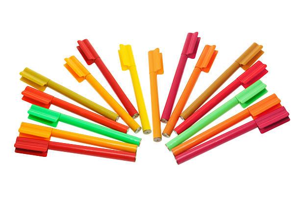 Colouring Pens stock photo