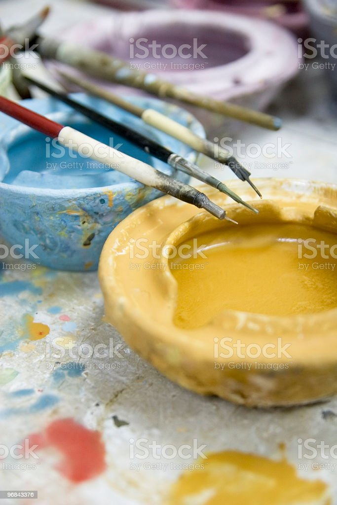 colours and brushes royalty-free stock photo