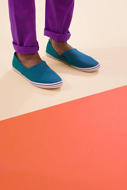 Colours and footwear stock photo
