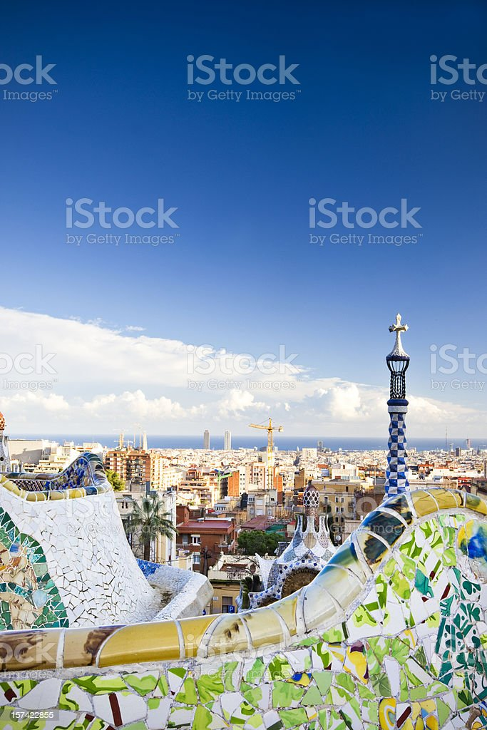 Colours of Barcelona royalty-free stock photo