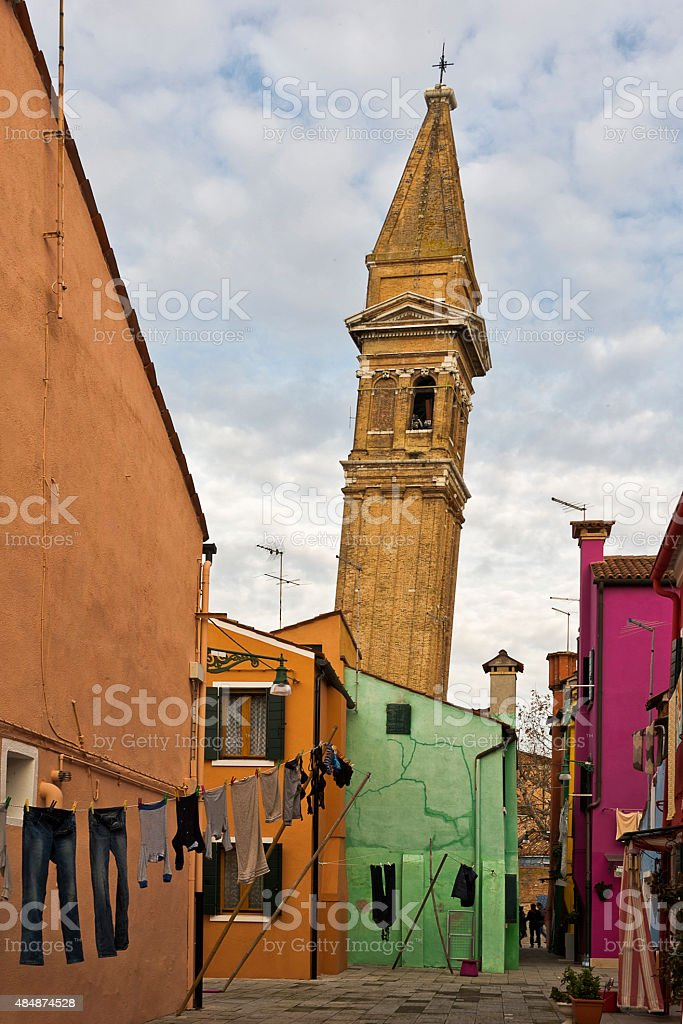 Colours of Burano royalty-free stock photo