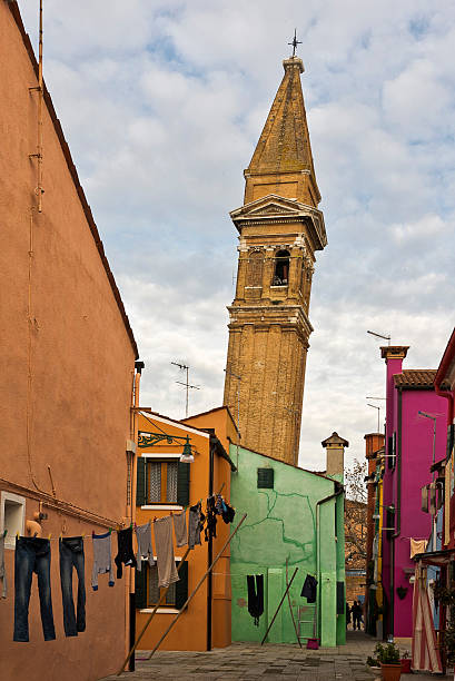 Colours of Burano stock photo