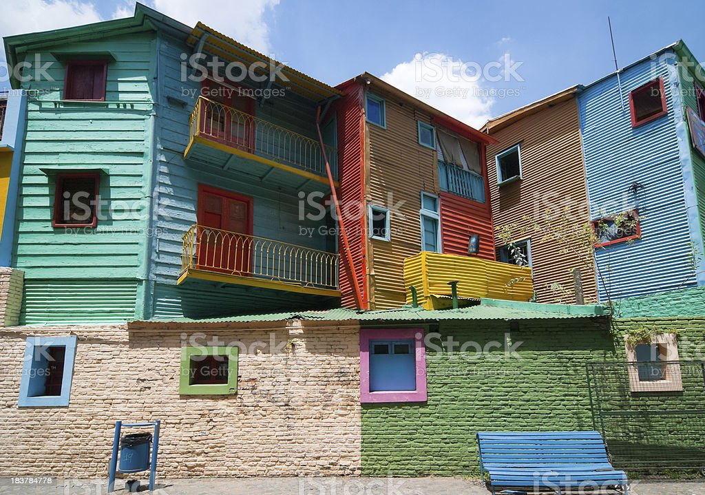 Colours of La Boca houses (Buenos Aires) stock photo
