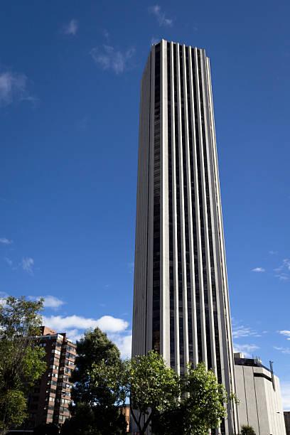 Colpatria Tower at Bogotá stock photo
