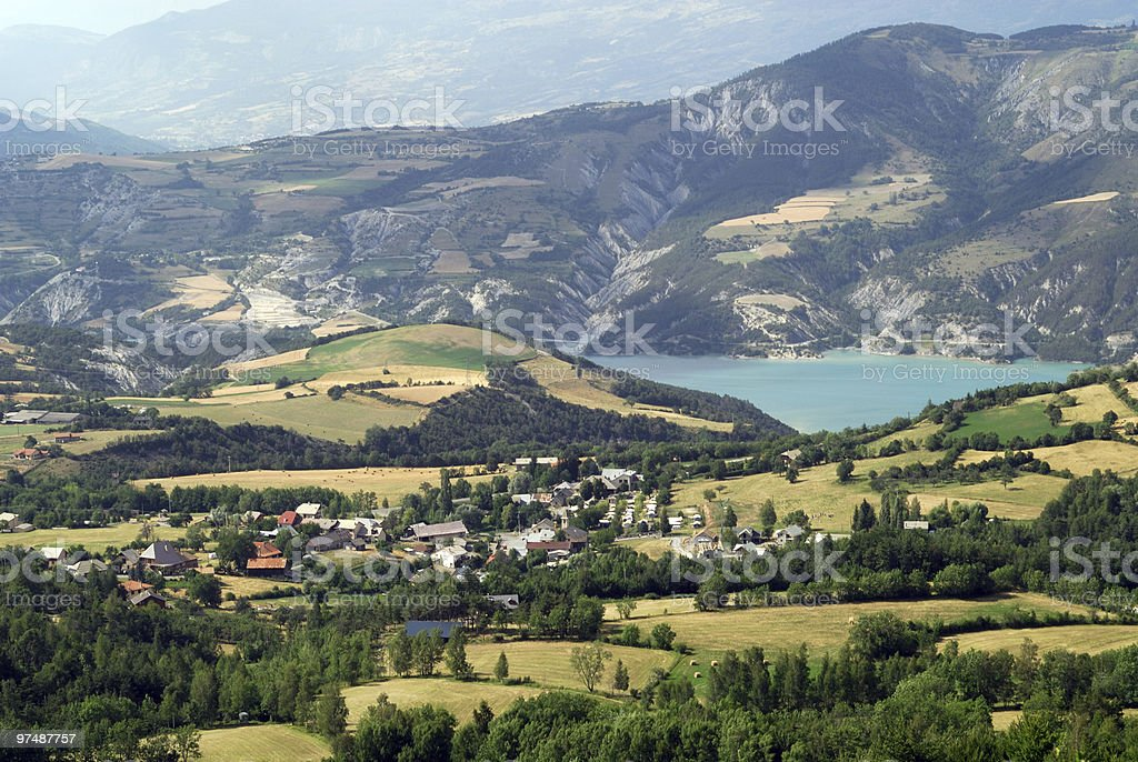 Col-Saint Jean, panoramic landscape in French Alps royalty-free stock photo