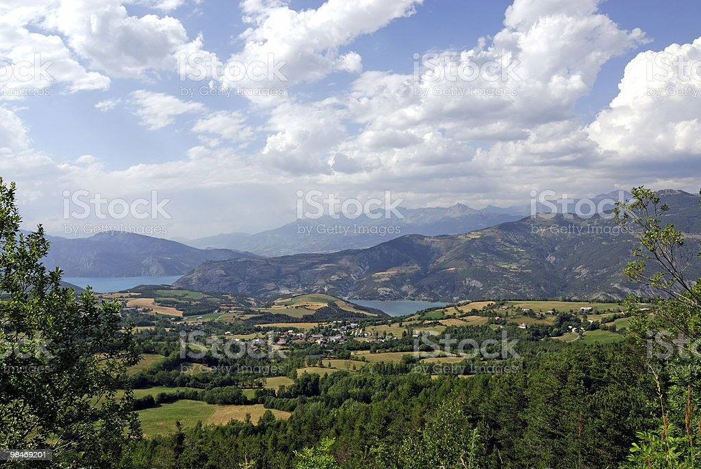 Col-Saint-Jean (French Alps) - Landscape at summer royalty-free stock photo