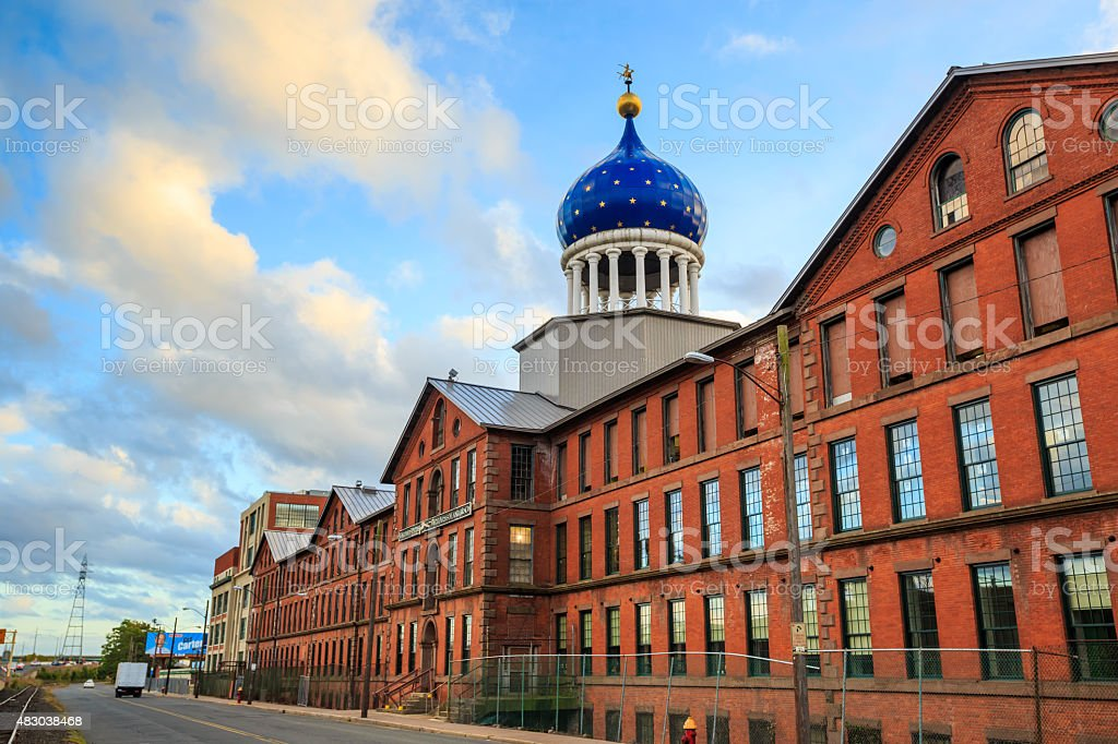 Colt Armory in Hartford, Connecticut. stock photo