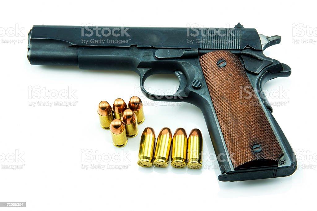 Colt Mark IV Delta Elite series80 government m1911 stock photo