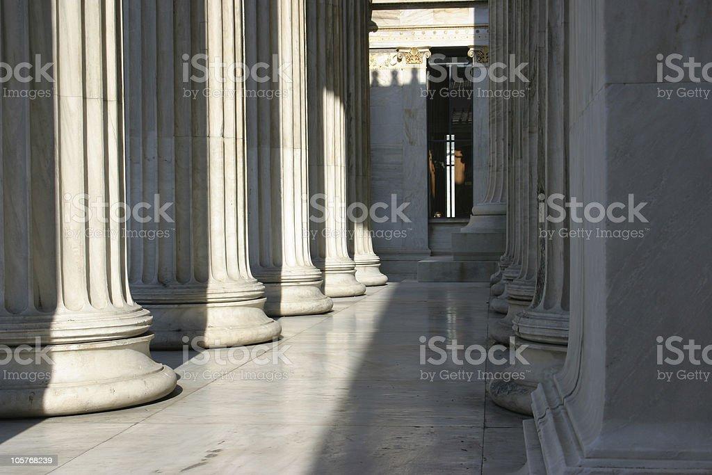 Colum array stock photo
