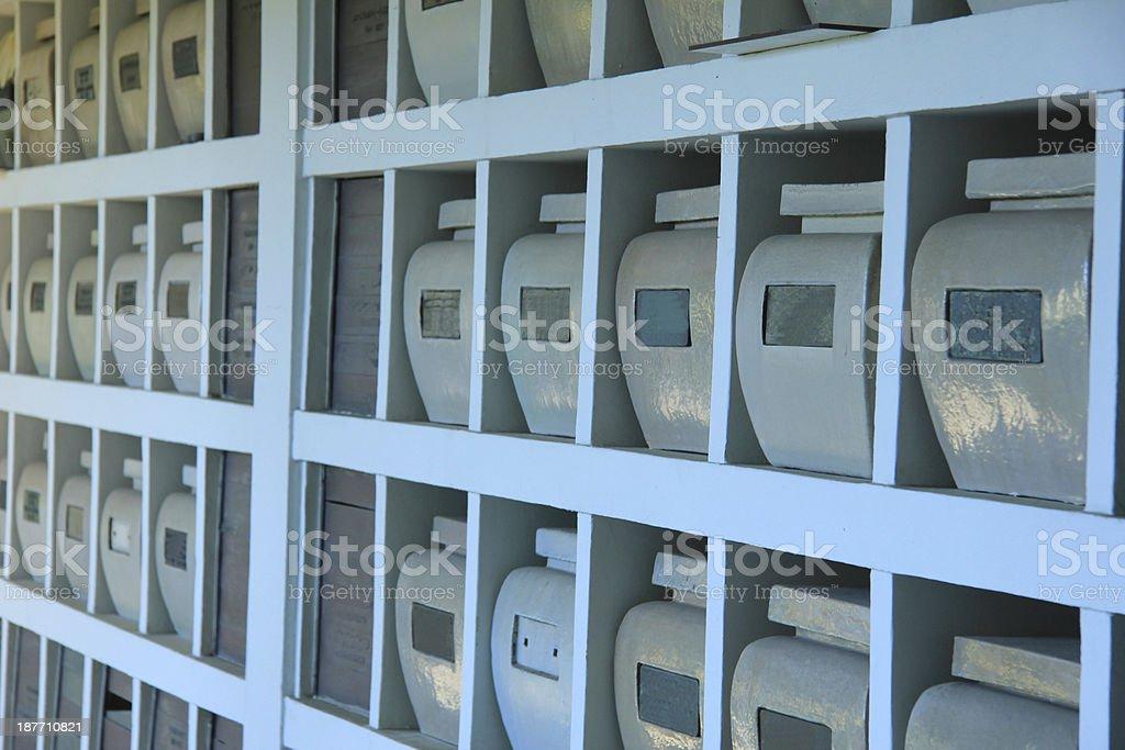 Columbarium stock photo