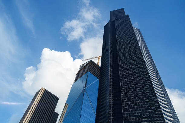 Columbia Center and The Mark construction stock photo