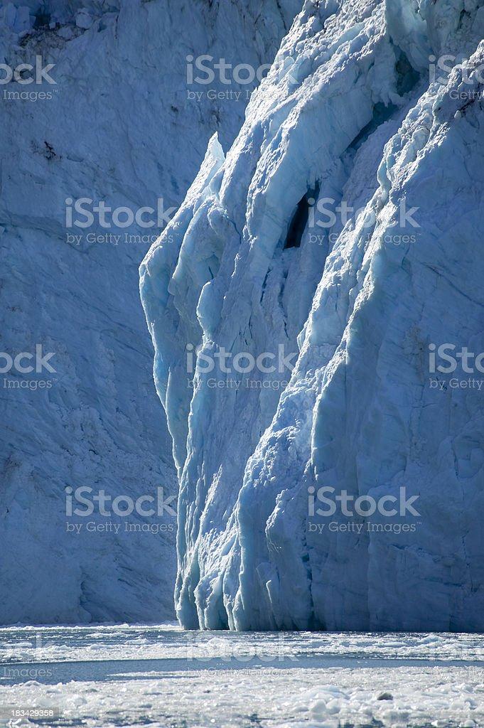 Columbia Glacier Alaska royalty-free stock photo