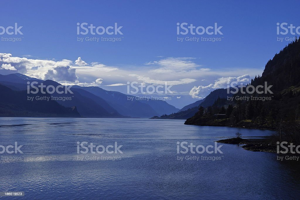 Columbia Gorge Blue stock photo