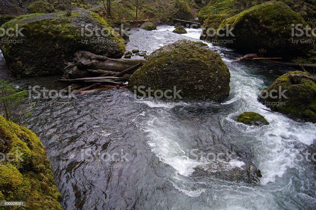 Columbia Gorge Boulders stock photo