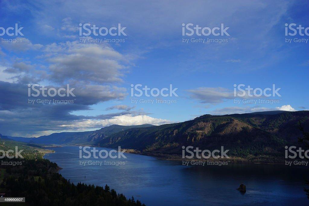 Columbia Gorge Majestic View stock photo