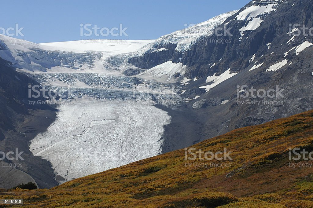 Columbia Ice Field in the Canadian Rockies stock photo