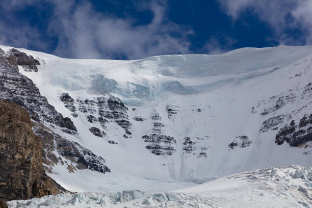 Columbia Ice Fields Athabasca glacier in Jasper National Park stock photo