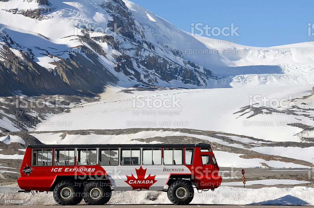 Columbia Icefield, Ice Explorer stock photo