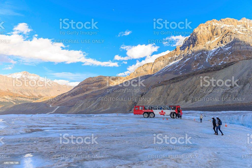 Columbia Icefield, Ice Explorer stock photo