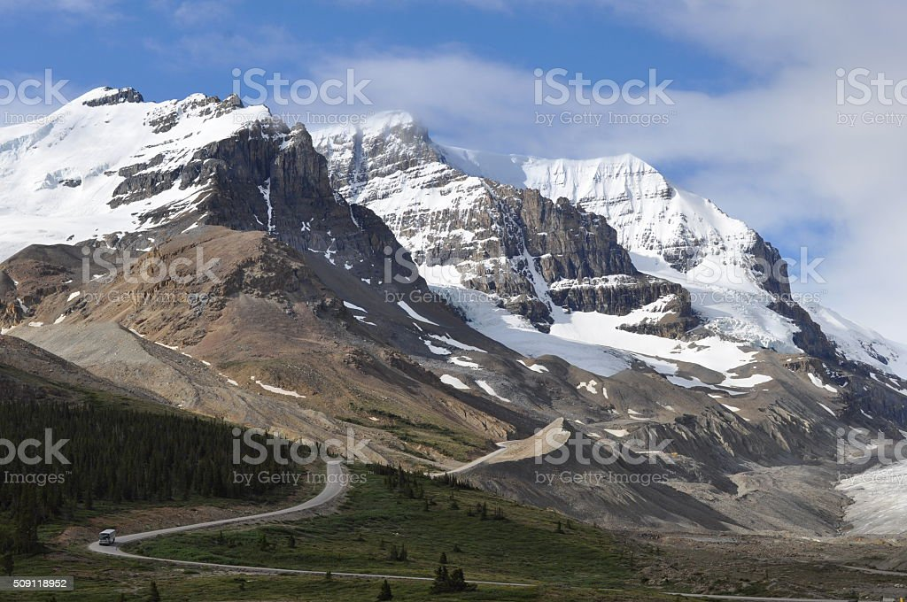 Columbia Icefield in Summer stock photo