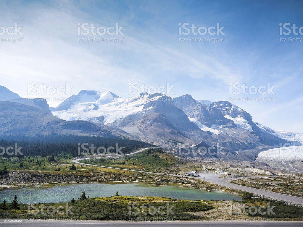 Columbia Icefield-canada stock photo