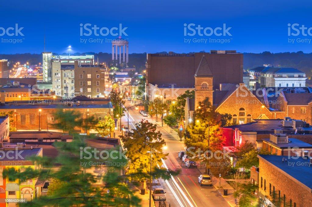 Columbia, Missouri, USA Downtown Cityscape royalty-free stock photo