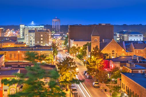 Columbia Missouri Usa Downtown Cityscape Stock Photo - Download Image Now