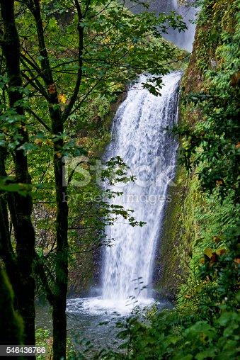 Lower, Multnomah fall, along the Columbia River Gorge, Oregon