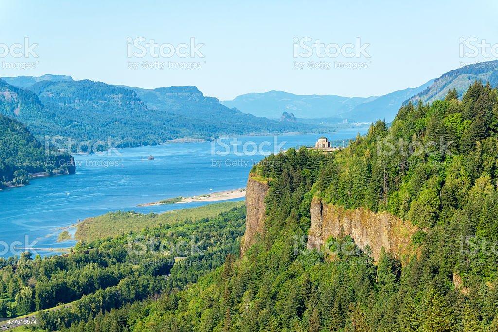 Columbia River Gorge View stock photo
