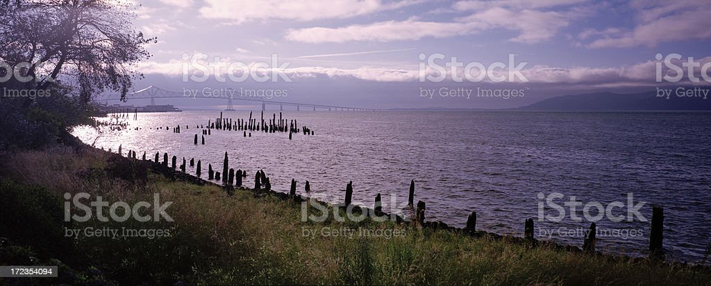 Columbia River near Astoria, Oregon royalty-free stock photo