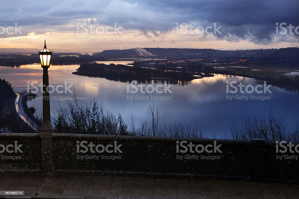 Columbia River Sunset. royalty-free stock photo