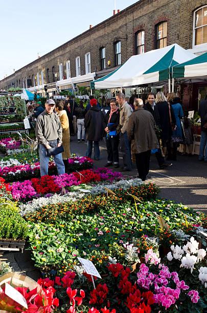 Columbia Road Blumenmarkt, London – Foto
