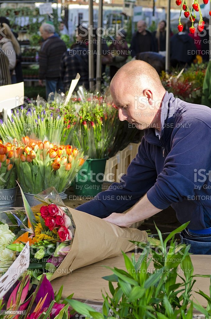 Columbia Road Flower Market, London royalty-free stock photo