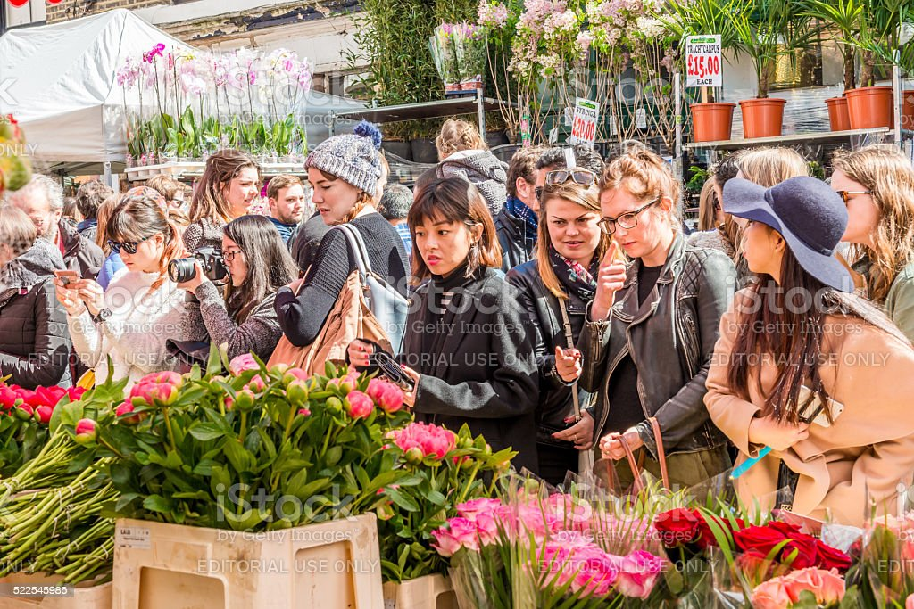 Columbia Road Flower Market stock photo