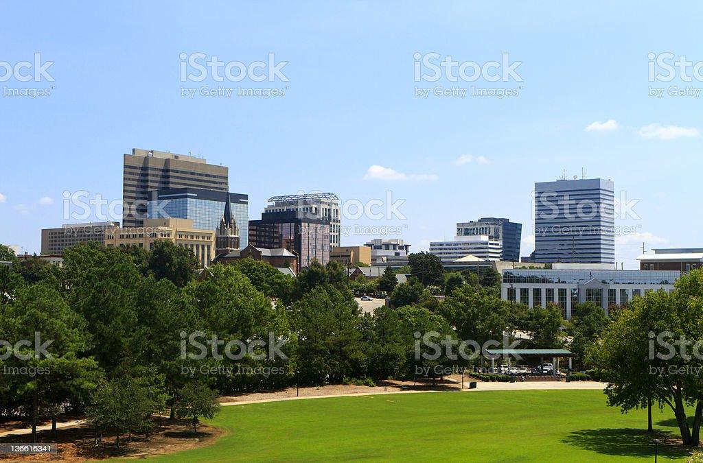 Columbia, SC Skyline - Late Summer stock photo