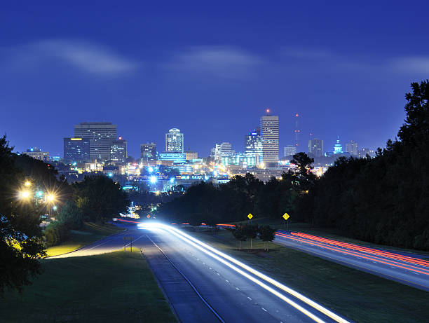 Columbia, South Carolina Skyline Skyline of downtown Columbia, South Carolina from above Jarvis Kaplan Blvd. south carolina stock pictures, royalty-free photos & images