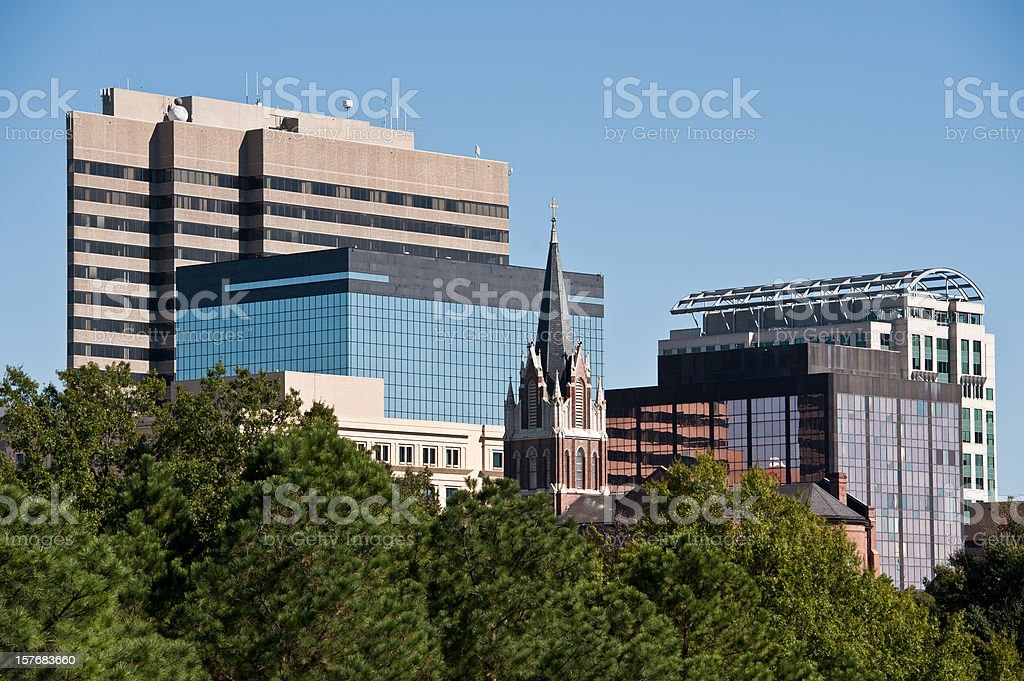 Columbia South Carolina Skyline royalty-free stock photo