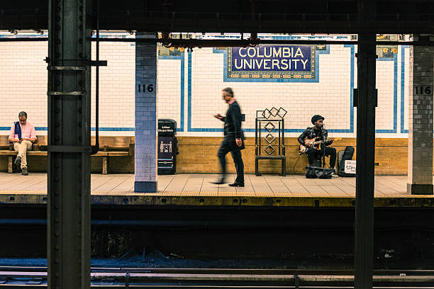 Columbia University Station at New York Subway stock photo
