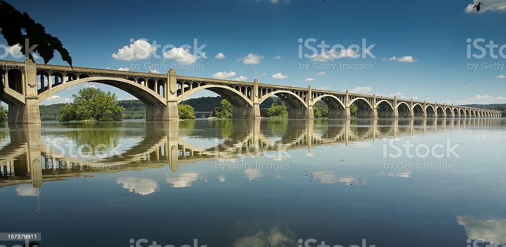 Columbia-Wrightsville Bridge royalty-free stock photo