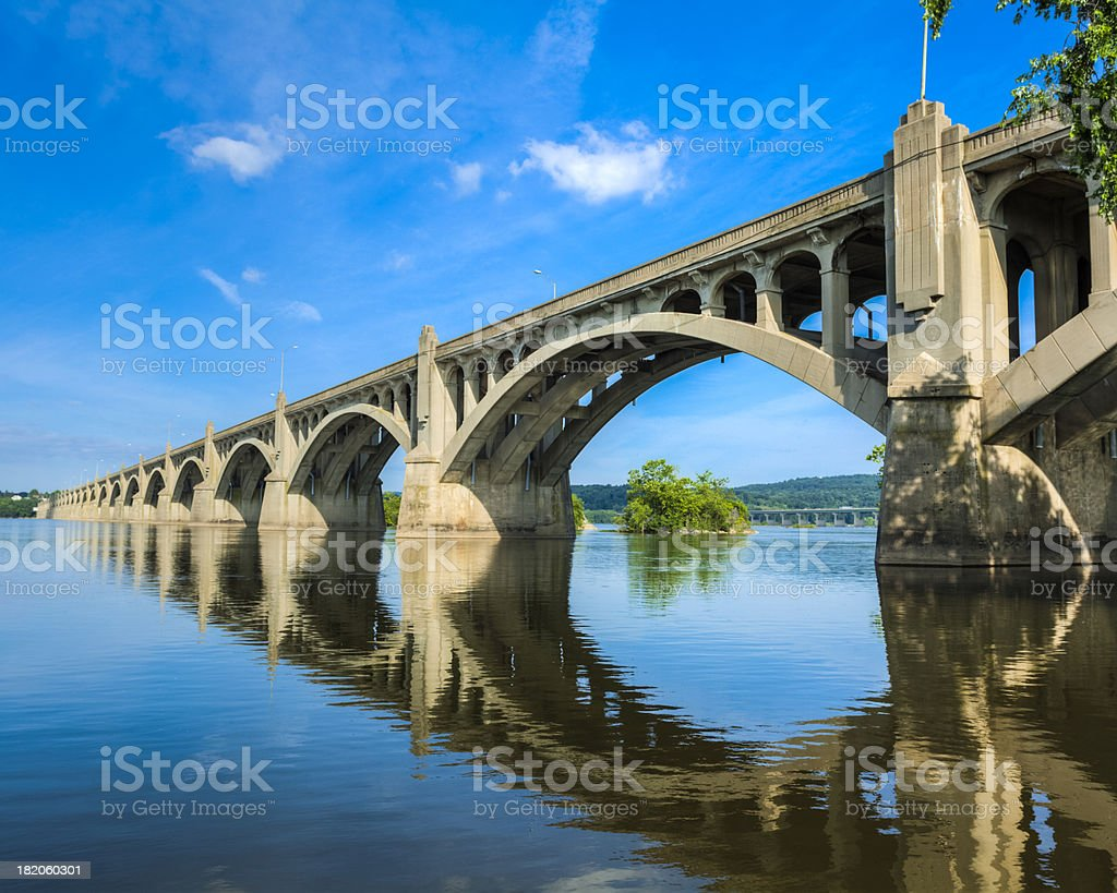 Columbia-Wrightsville Bridge stock photo