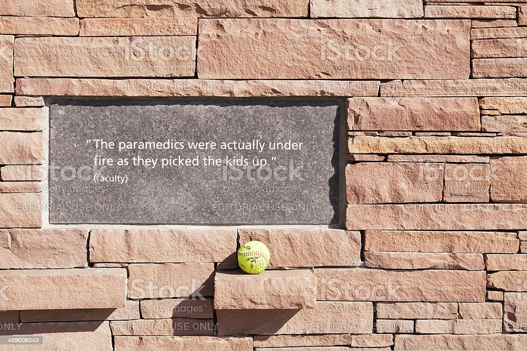 Columbine High School Memorial Detail Stock Photo & More ...