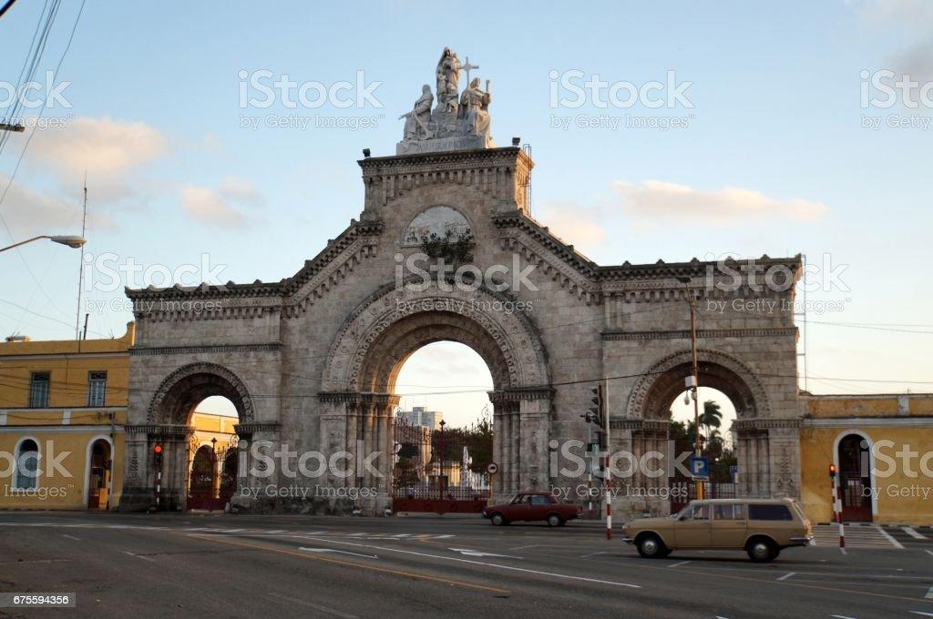 Columbus Cemetery in Havana stock photo