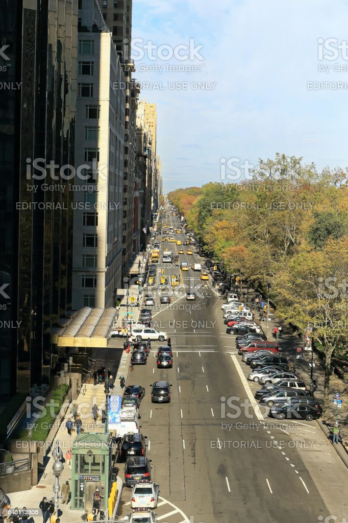 Columbus Circle and Central Park stock photo