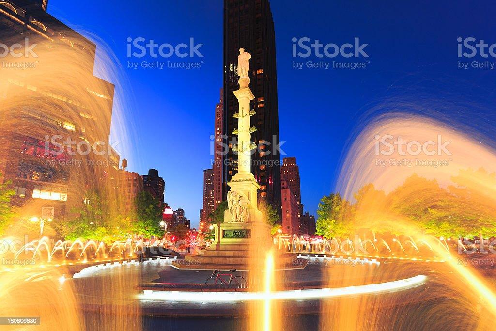 Columbus Circle in New York City stock photo