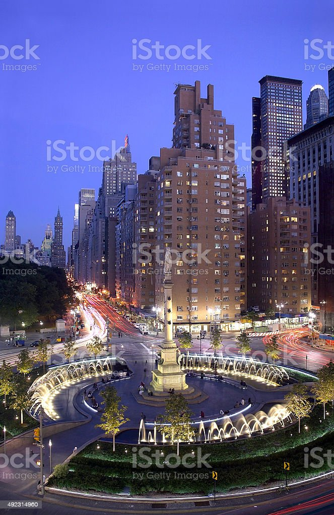 Columbus Circle New York City stock photo
