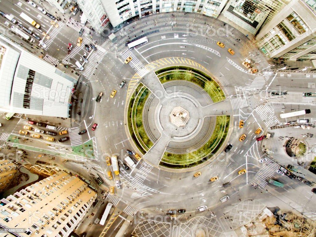 Columbus circle stock photo