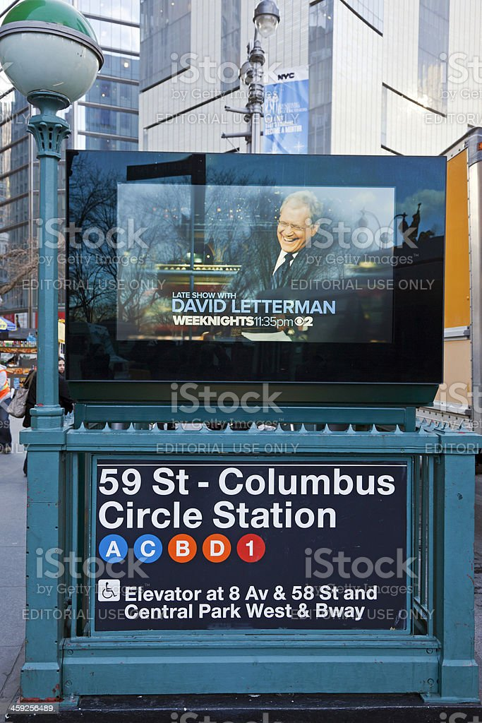 Columbus Circle subway stock photo