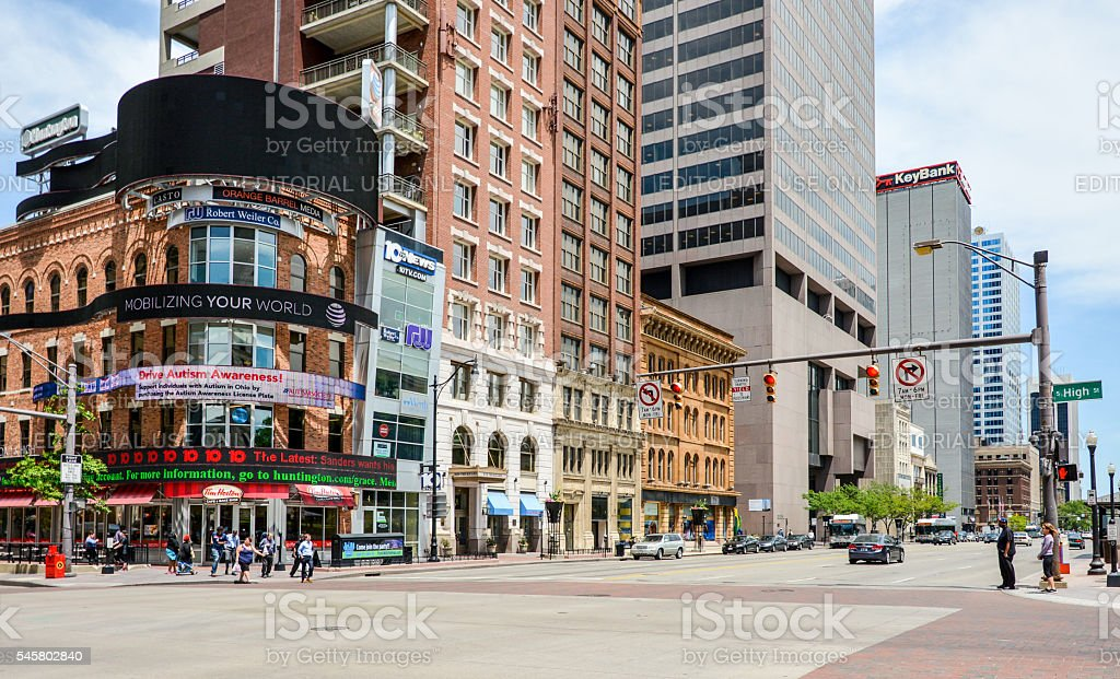 Columbus city center stock photo istock city street columbus ohio ohio road shopping sciox Choice Image