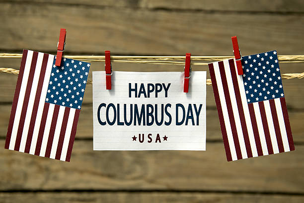 Columbus day stock photo