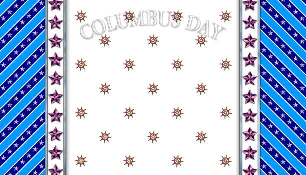 3d, hintergrund-columbus day, weiß mit schiff-rad für amerikanischen feiertag in den farben holz, stahl, weiß und blau. amerikanische feiertage vorlage. - steuerungstechnik stock-fotos und bilder
